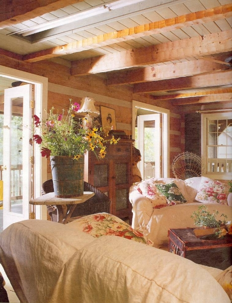Log home gallery ronald m hawes inc for Log home sunrooms